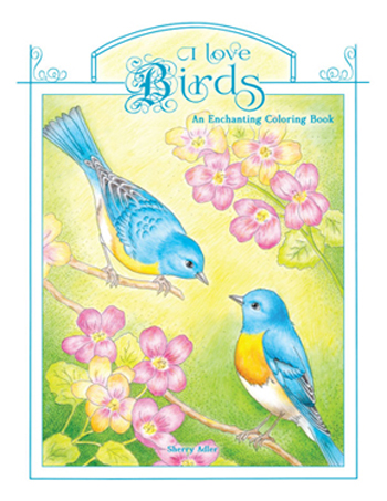 I Love Birds Coloring Book front cover